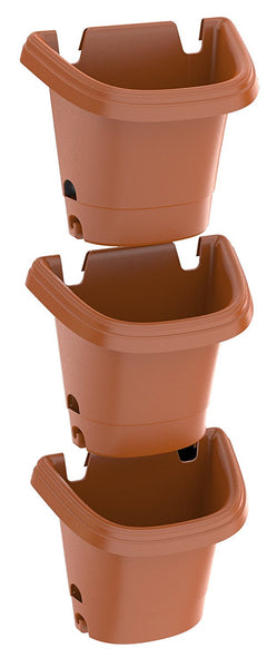 Fiskars Pottery 482121-1001 Hanging Garden Planter System, Clay, 3-Piece