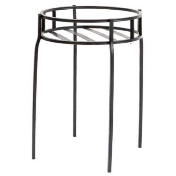 Panacea™ 86617 Contemporary Steel Plant Stand, Black, 15.5""