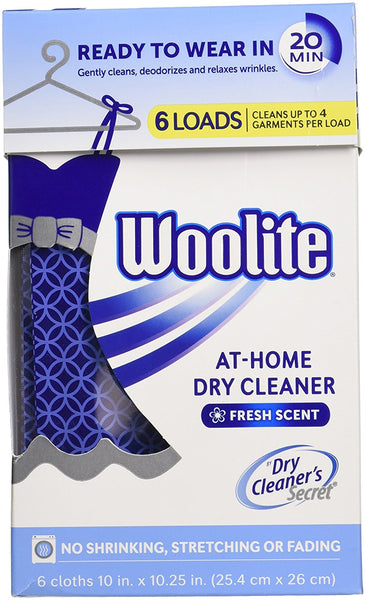 Woolite® DCS04N Dry Cleaner's Secret® At-Home Dry Cleaner, Fresh Scent, 6-Loads