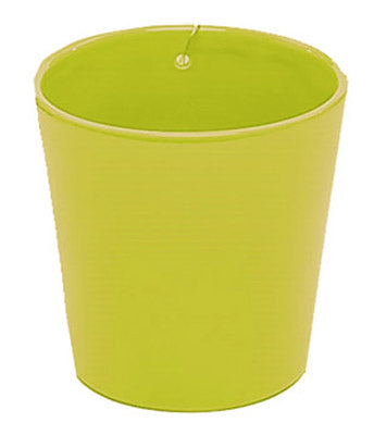"Deroma 5700591A Ceramic Urban Wall Pot, 4.9""D x 4.7""H, Green"