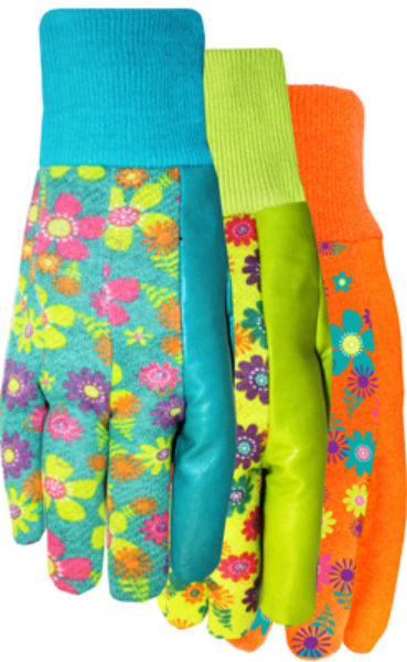Midwest 589D4 Ladies Jersey 'N More™ Glove with Floral Print, Assorted Colors