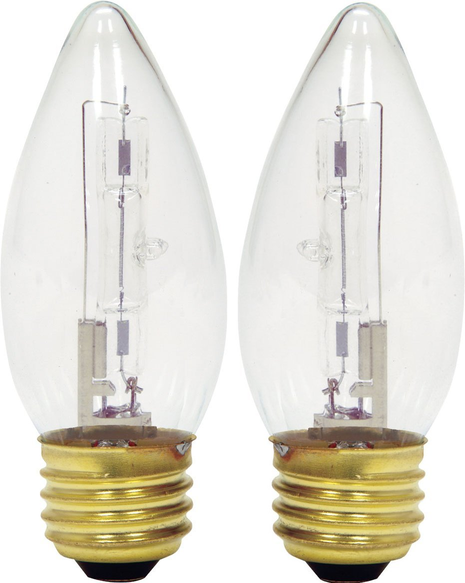 GE Lighting 60271 Energy-Efficient B13 Halogen Bulb, Crystal Clear, 43W, 2-Pack