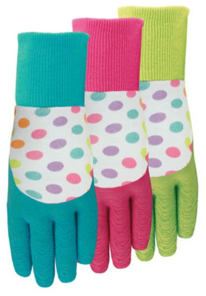 Midwest 64D4-L EZ Grip™ Ladies Gripping Gloves, Assorted Colors, Large