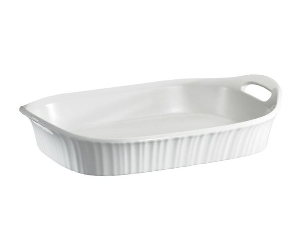 Corningware® 1105936 French White® Oblong Casserole Dish, 3 Qt
