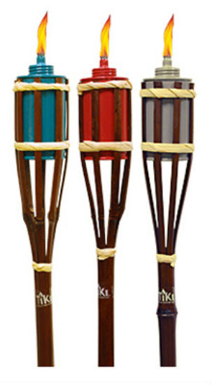 Tiki® 1113076 Bamboo Garden Torch, Assorted Colors