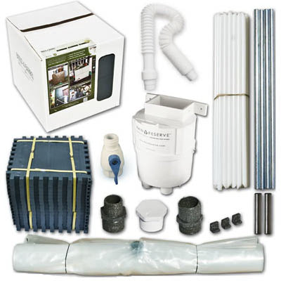Rain Reserve 2051202 Rain Barrel With Diverter Kit 100 Gallon, Gray