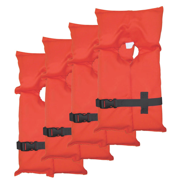 Stearns® 3000004482 Adult Type II Universal Life Jacket, Orange, 4-Pack