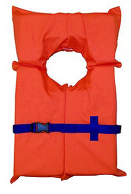 Stearns 3000001723 Universal Type II Boat Vest, Orange with Blue Belt