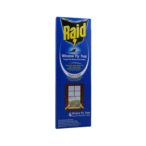 Raid® FTRP-RAID Window Fly Trap, 4-Pack