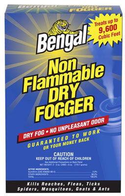 Bengal 55500 Non-Flammable Indoor Dry Fogger 2-3 Oz, 2 Pack
