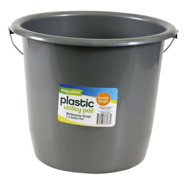 Easy Pack™ 8078 Plastic Utility Pail, 2.5-Gallon