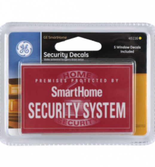 GE 45116 Security Decal, 5 Pack