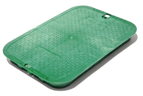 "NDS 113C Irrigation Control Valve Box Cover, 12"" x 17"", Green"
