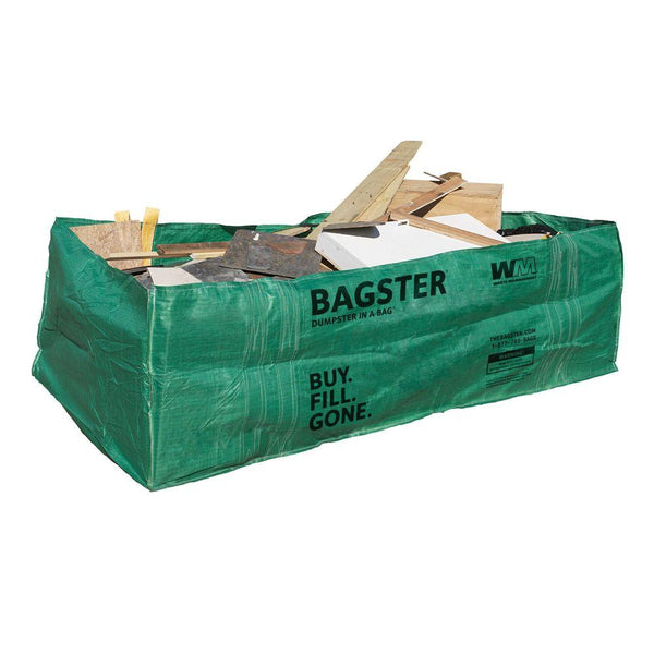 Bagster® 3CUYD Dumpster In A Bag®, 8' x 4' x 2.5', 3 Cu.Yd. Capacity