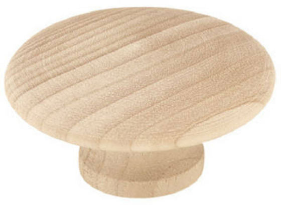 "Liberty Hardware P10515C-BIR-C5 Round Wood Knob, 2"" x 3/4"", White Birch"