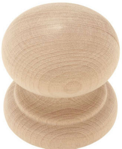 "Liberty Hardware Round Wood Knob, 1-3/4"" Diameter, White Birch"