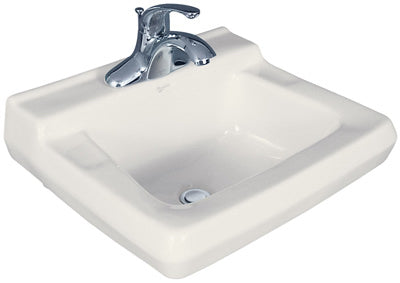 Mansfield 1917C Willow Run Commercial Wall Mount Lavatory, White