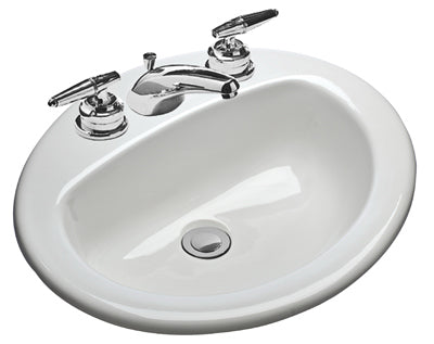 Mansfield 237-4 Oval Self Rimming Lavatory, White