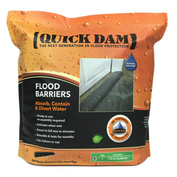"Quick Dam QD617-1 Flood Barrier Fabric, 6"" x 17', Black"
