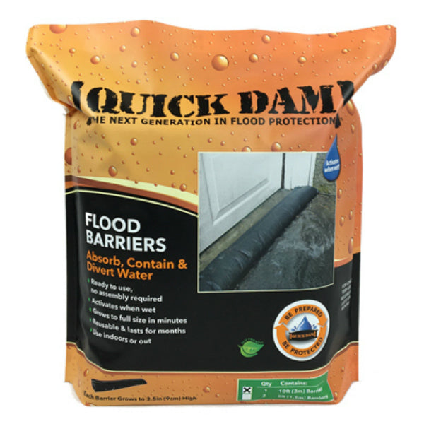 "Quick Dam QD610-1 Flood Barrier Fabric, 6"" x 10', Black"