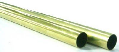 "K&S 8131 Round Brass Tube, 1/4"" OD x 12"" Length"
