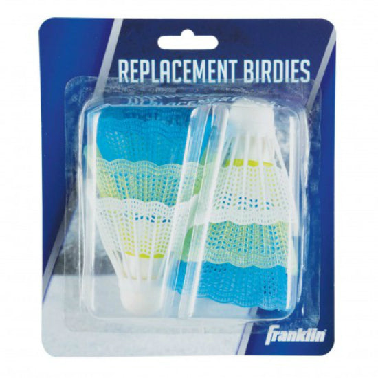Franklin 52619 Grade A Plastic Shuttlecocks, Assorted Colors, 6-Pack
