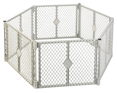 North States 8666 Superyard Classic Plastic 6-Panel Play Gate, 18.5 Sqft x 26""