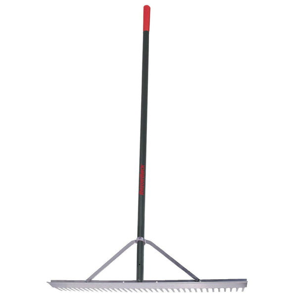 Razor-Back® 63000 Aluminum Landscape Rake w/ Aluminum Handle and End Grip, 36""