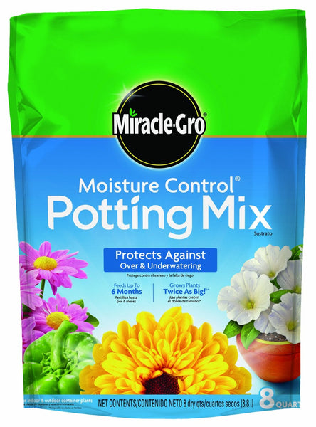 Miracle-Gro® 75578300 Moisture Control® Potting Mix, 8 Qt