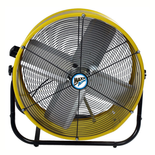 MaxxAir® BF24TF-YEL Direct Drive Tilt Fan w/ roll-Around Wheels, 2-Speed, 24""