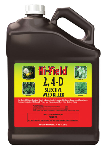 Hi-Yield® 21416 2,4-D Selective Weed Killer, Concentrate, 1-Gallon