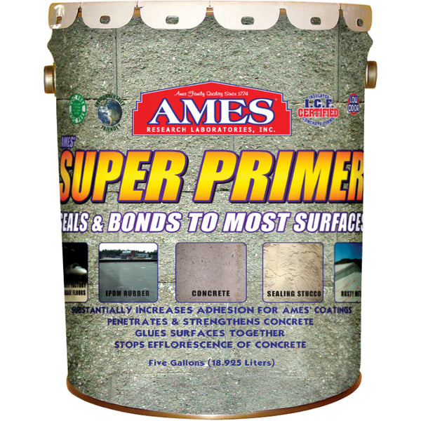 Ames® Research SP5 Super Primer 100 % Pure Acrylic Elastomeric Sealant, 5 Gallon
