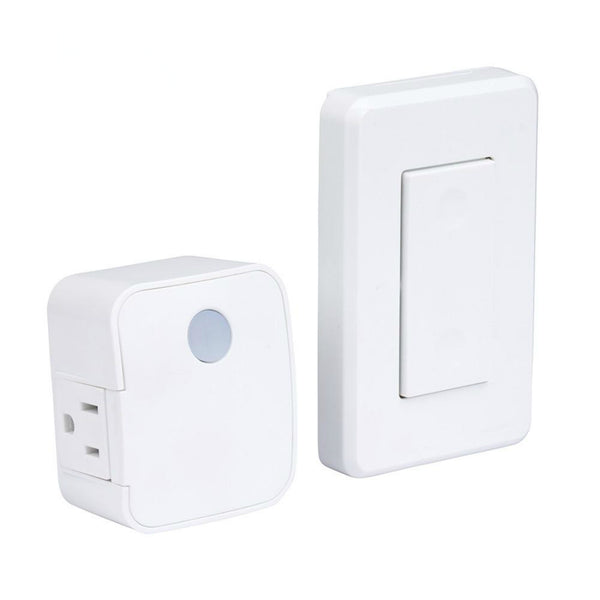 AmerTac RFK1600LC Indoor Wireless Wall Mountable Switch, 1 Grounded Outlet