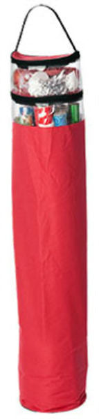 "St. Nicks Choice™ 77020-1CC Zip-Up Gift Wrap Storage Container, Red, 45"" Tall"