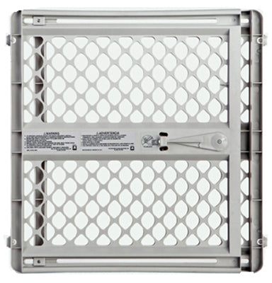 "North States 8625 Universal Plastic Pet Gate, Light Gray, 26""-42"" x 26"""