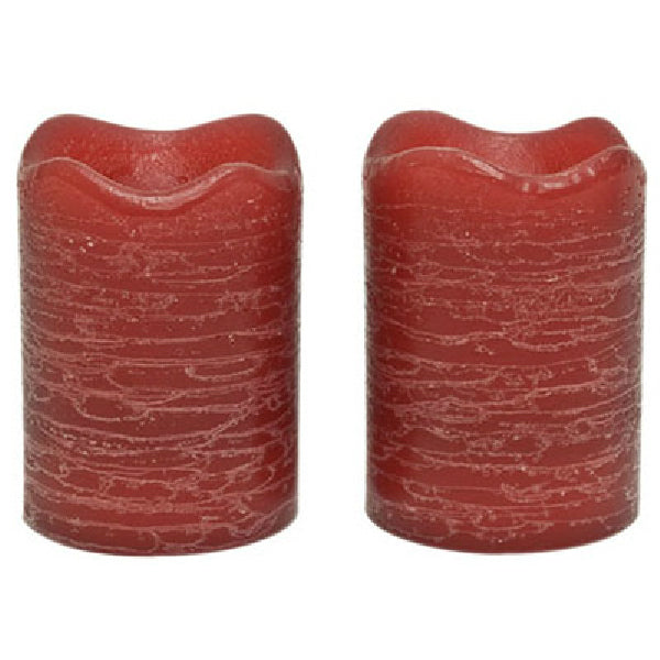 "Inglow CG10288CU45 Pomegranate Fig Scented Rustic Votive Candles, 2.5"", 2-Pack"