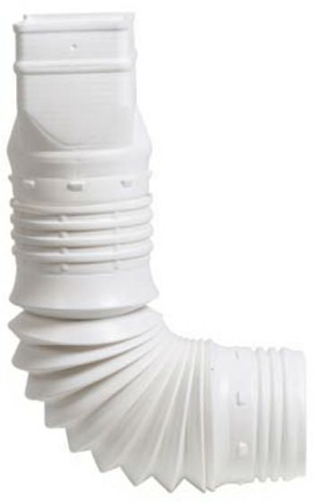 "Amerimax ADP53129 Down Spout Adaptor, 3"" x 4"", White"