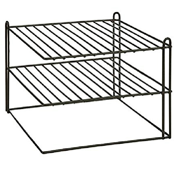 "Honey-Can-Do KCH-04369 Steel Wire Corner Shelf, 10"", Black"