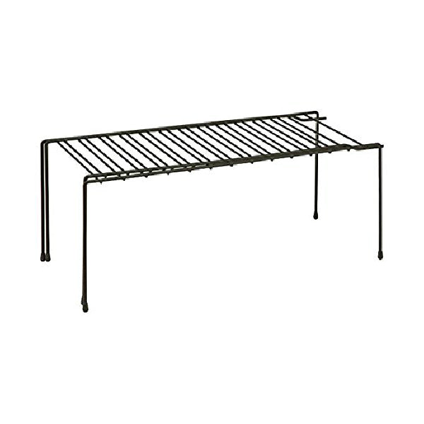 "Honey-Can-Do KCH-04370 Steel Wire Expandable Shelf, 26"", Black"