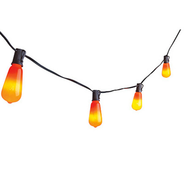 Sylvania V33135-88 Halloween Edison Style Glass Bulb 10-Light Set, Orange, 10'