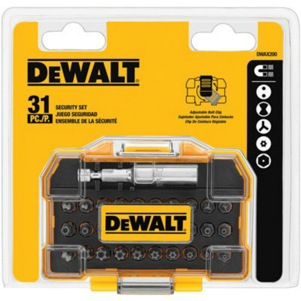 DeWalt® DWAX200 Standard Security Driving Bit Set, 31-Piece