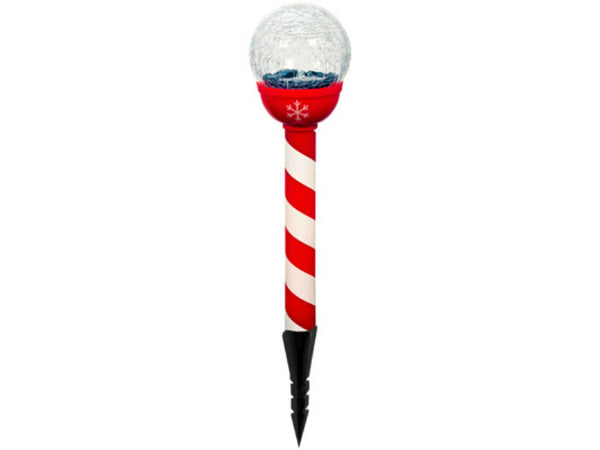 Gossi CSPG-1 Christmas Solar Powered LED Stake Light, Red & White