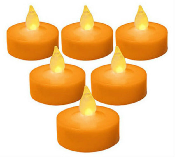 Sylvania V31037-88 Halloween Battery Operated Tea Light, Orange, 6-Pack