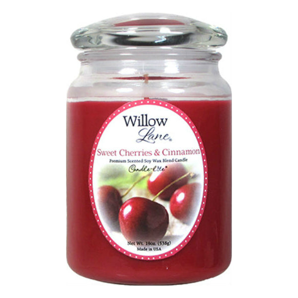 Candle Lite® 1646991 Willow Lane™ Wax Jar Candle, 19 Oz