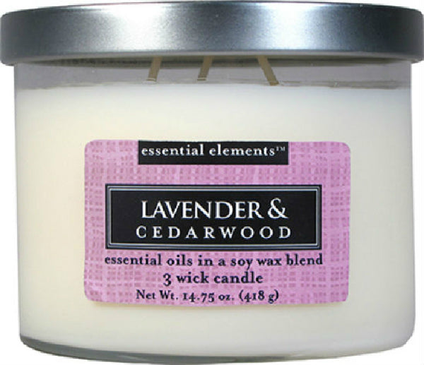 Candle Lite® 1542353 Essential Elements™ Lavender & Cedarwood Candle, 14.75 Oz