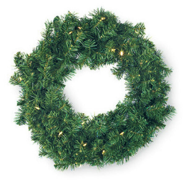 Holiday Wonderland 2144380 Color Changing 30-LED Ludwig Artificial Wreath, 24""