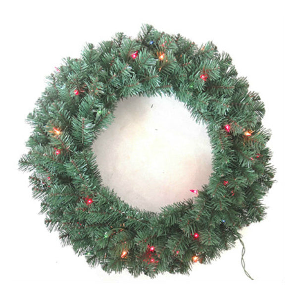 Holiday Wonderland® VAL-416-24 Valley Pine Artificial Wreath, 24""