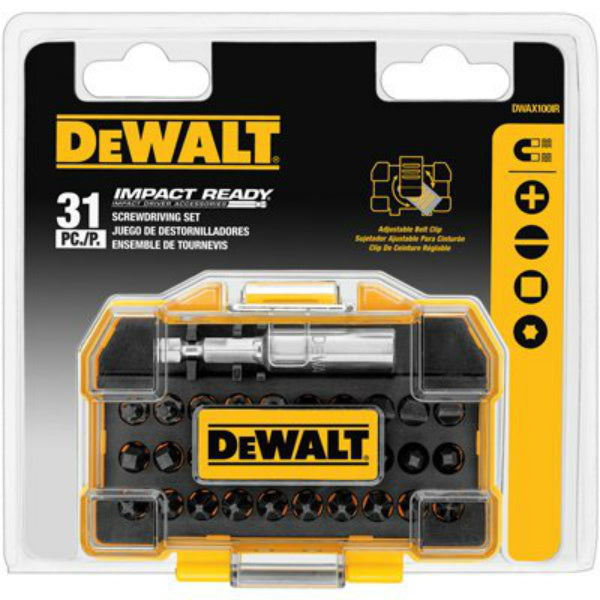 DeWalt® DWAX100IR Impact Ready® Screw Driving Set, 31-Piece