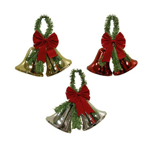 "Impact Innovation 3940NP12 Christmas Bell Decoration, 13"" x 13"", Assorted"