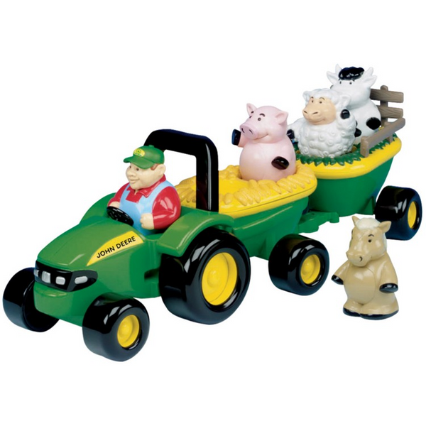 John Deere 34908A Animal Sounds Hay Ride Toy Set